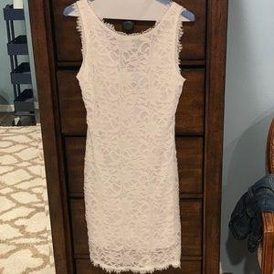 Lacy white dress